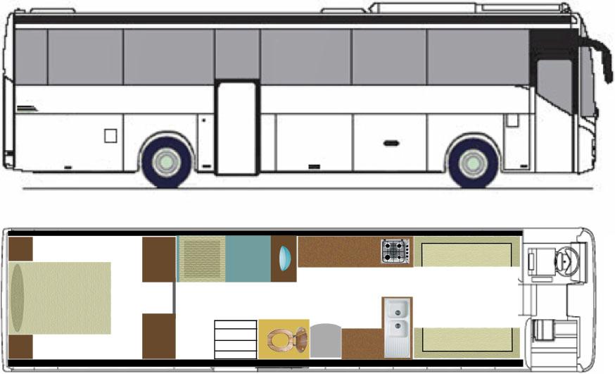 vivre dans un bus amenage 11 6 id es pour am nager son. Black Bedroom Furniture Sets. Home Design Ideas